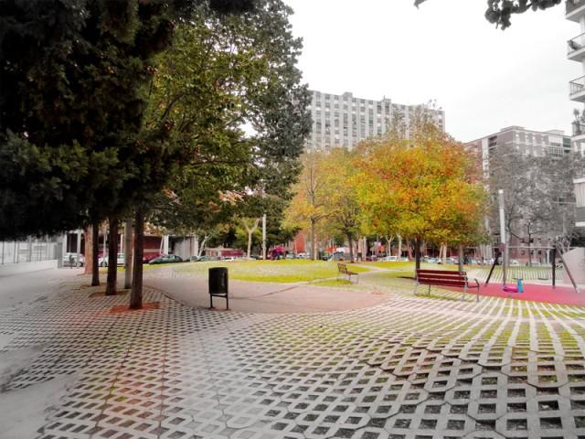 Rehabilitacion Plaza Victoria Kent, Barcelona